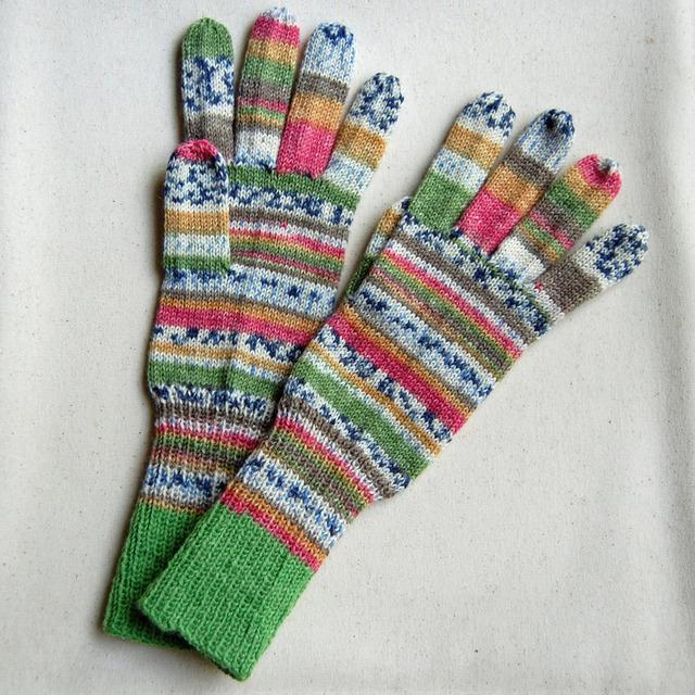 手編み5本指手袋 No.1