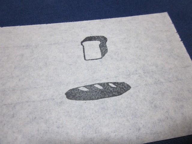 消しゴムはんこ「パン」セット(食パン+フランスパン)
