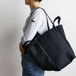 DROP SHOULDER TOTE BAG(オールブラック)