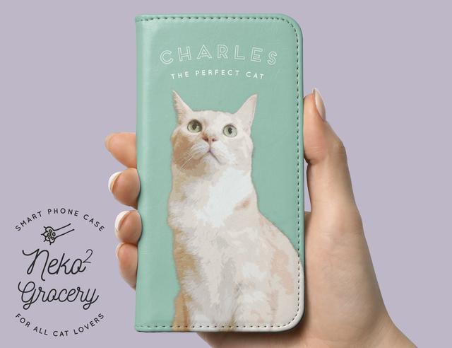 deb07caa00 ペットの写真で♪うちの子手帳型スマホケース │猫 犬 iphone アンドロイド