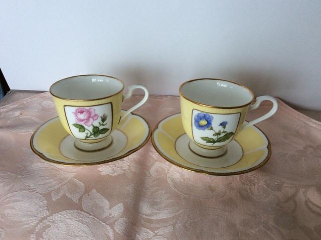 1つ花のコーヒーカップ&ソーサー