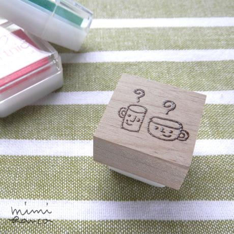 【受注制作】コーヒーさんとコーヒーさんの消しゴムはんこ
