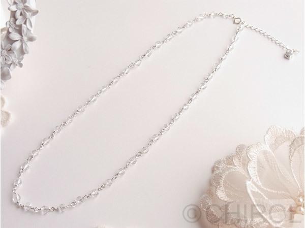 クオーツ(4mm)ネックレス/SilverFilled