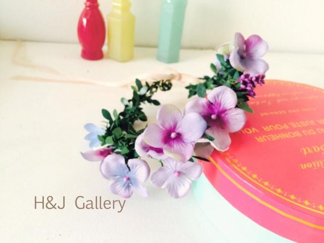 紫陽花の花冠