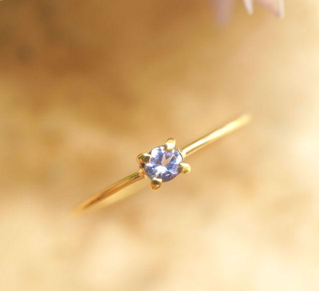 再販】K18タンザナイトのリング 〜urania