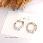 ꫛꫀꪝ【数量限定セール】white pearl  ring pierce