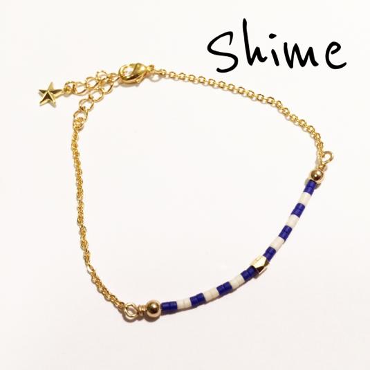 beads bracelet【BLUE】