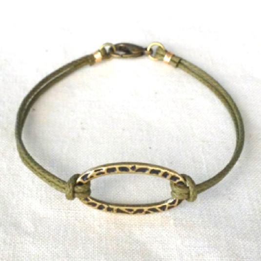 Oval cord breacelet