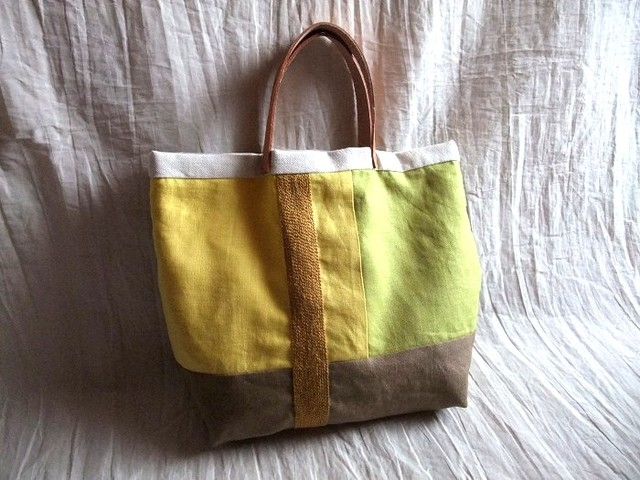 itoiro tote bag (yellow)