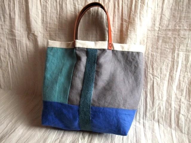 itoiro tote bag (blue)