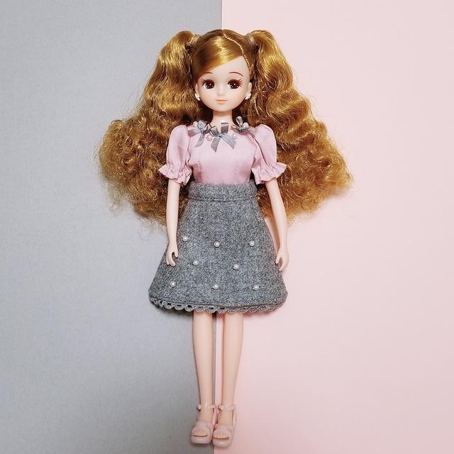 29b2921951f9a グレーリボンのお洋服セット ブライス ARomantic