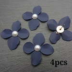 【kn699】【navy4個】mat color flower parts