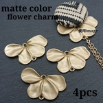 【kn700】【4個】matte color flower connecter charm