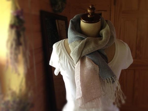 SOLD 手織り リトアニアリネン&ラミー 3色