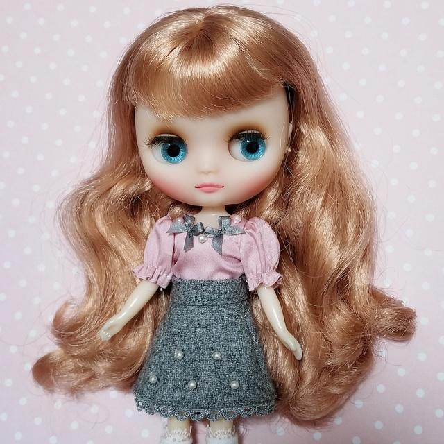 8d2bc39409118 ミディ)グレーリボンのお洋服セット ミディブライス