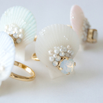 { minne 特集掲載 }Luxury Sea Dream Ring - WHITE