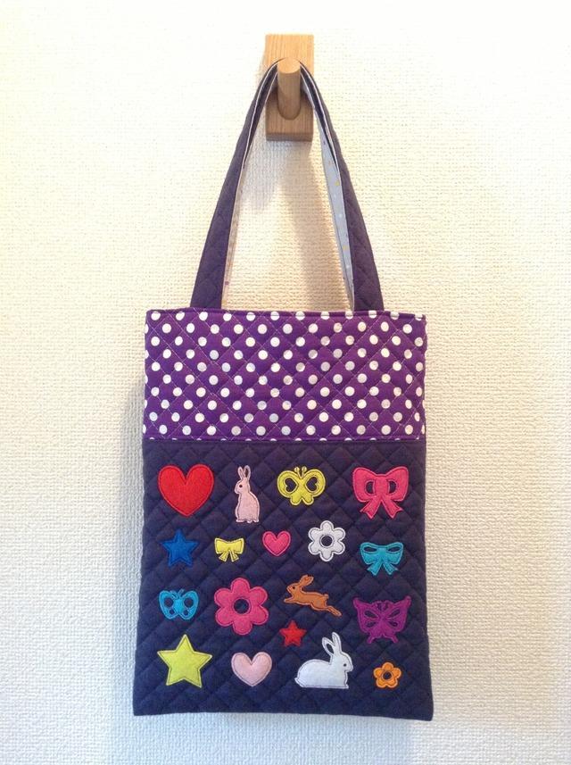 《在庫sale??》キルティングdeペタンコバッグ  #006 紫