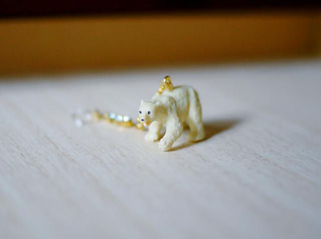 animal片耳イヤリング(ノンホールピアス)【Polar bear 4】