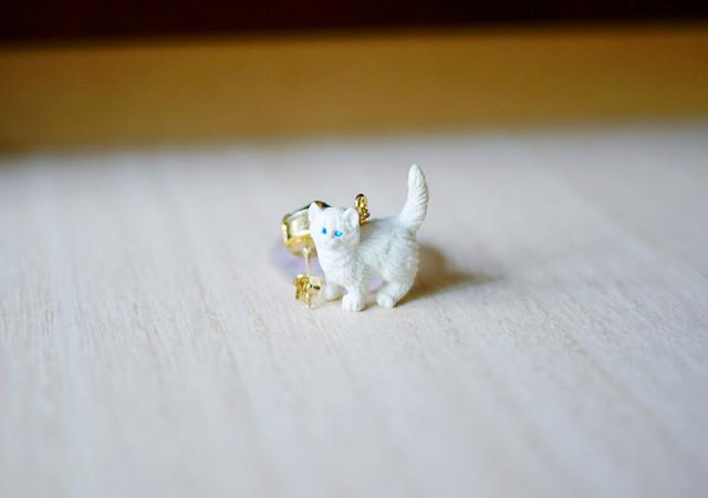 animal片耳ピアス【cat】