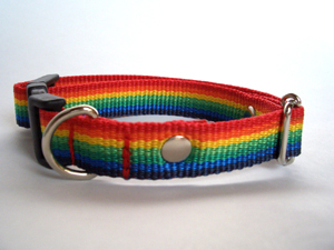 レインボー*犬用首輪(20mm幅) オーダーメイド