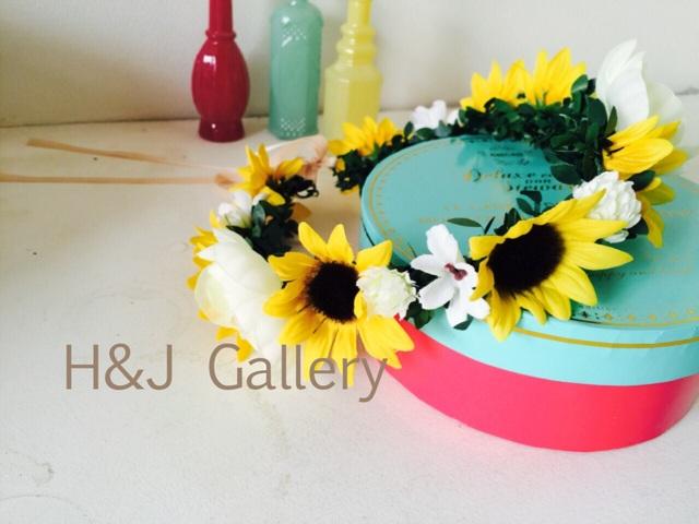○ヒマワリの花冠