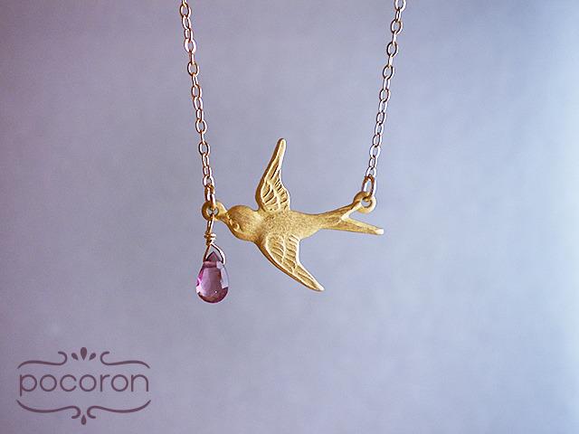 [14kGF]王子に恋をしたツバメのネックレス