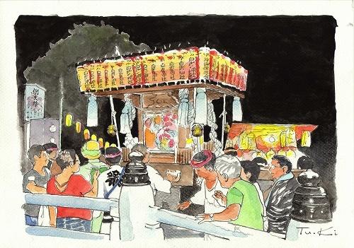 藤沢白旗の祭り(2)《額付》