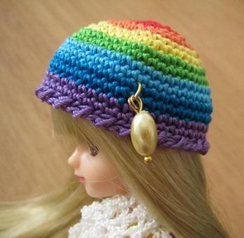 【帽コレ2015summer】レインボーカラー・ドール用の夏帽子【太陽のカケラ】