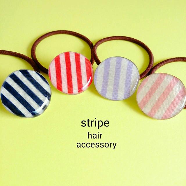 『stripe』ヘアゴム