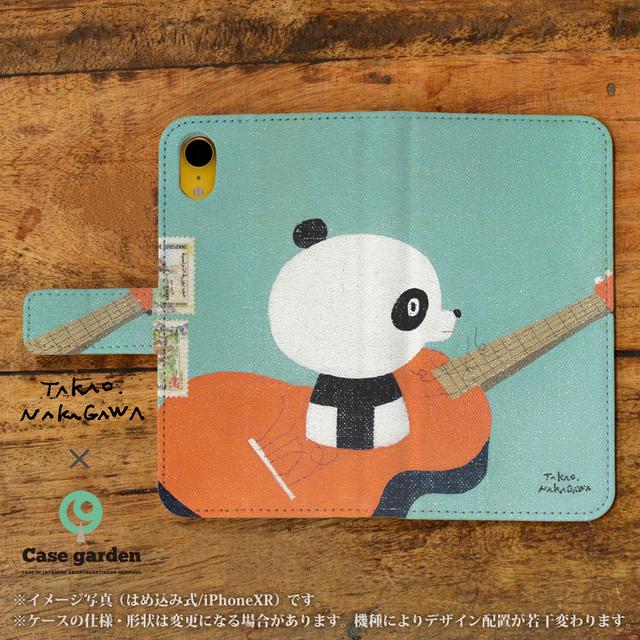 9815ec5790b3 スマホケース 手帳型 全機種対応 iphonexr iphonexsmax iphonexs galaxy note s s s edge feel  パンダ ギター
