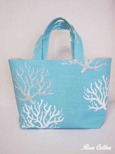 珊瑚 トートバッグ
