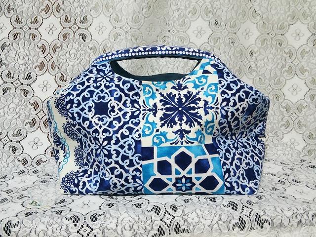 【送料込み】藍染め風バンドルバッグ