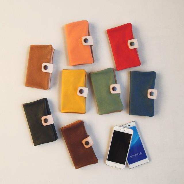 c13d5fcd7c ぶた革*スマホケース【8色】多機種対応*シンプルだけど個性的やわらかなスマホカバー手帳型(iphone8,xperia,galaxy)【送料無料】