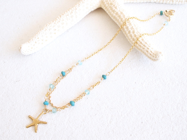 14KGF Starfish Bracelet BL