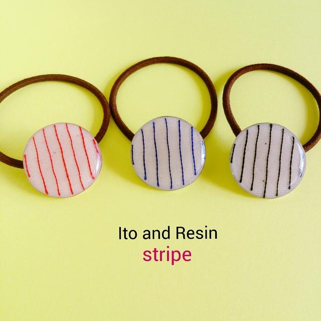 『ito stripe』ヘアゴム