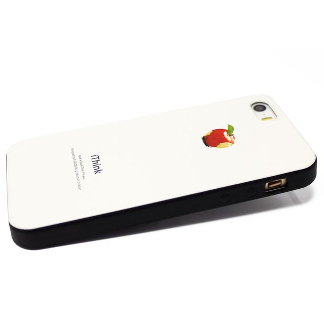 7993c07166 iphone5/iphone5s用/iphoneSE 軽量レザーケースiphone5カバー(オフホワイト×ブラック