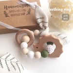 teething ring ✴︎khaki×wood (歯固め)