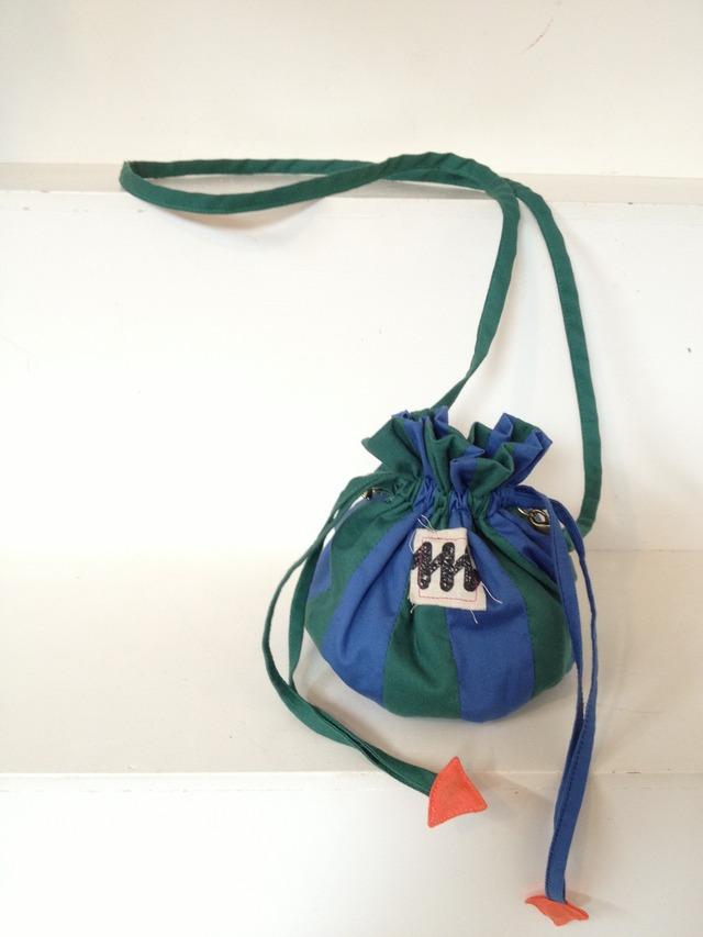 pochette/a sea anemone    緑×青