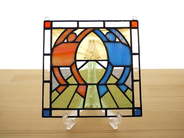 ステンドグラス ミニパネル ストレッチ 15cm