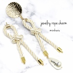 カンに変更あり。 ivory 2pcs)import parts jewelry rope charm