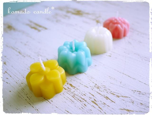 4色ミツロウキャンドル