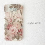 iPhone ケース ❤︎ antique rose 〜ivory