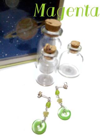 Little planet : 小さな宇宙旅行のピアス☆(YGR)