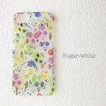 iPhone ケース ❤︎  flower pattern 〜watercolor