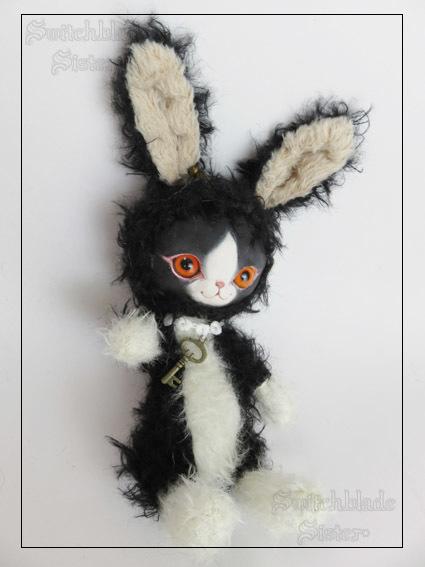 フェイスタイプドール*うさぎ(黒×白)ウサギ
