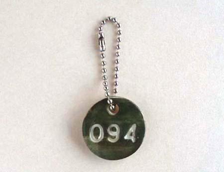 陶器のナンバーチャーム[094・緑]〈送料無料〉