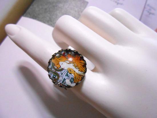 アルフォンス・ミュシャ「Job」リング指輪