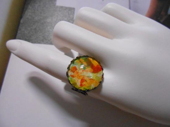 アルフォンス・ミュシャ「Biscuits Lu Recommandes」リング指輪