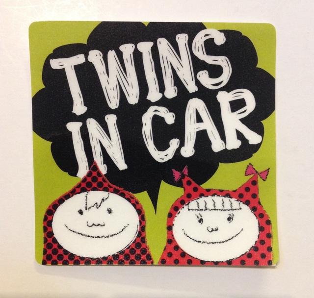 男の子女の子 双子 mixツインズインカー  ステッカー