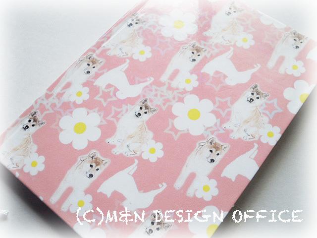 柴犬イラストのノートブック(ピンク)